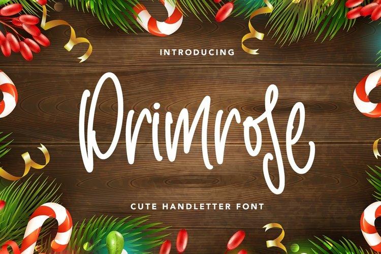 Web Font Primrose - Cute Handletter Font example image 1