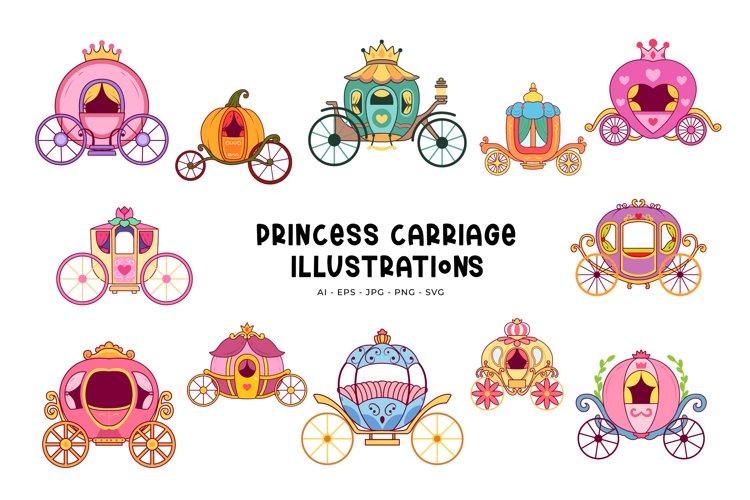 Princess Carriage Illustrations