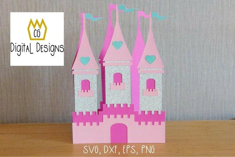 Princess Castle Card - SVG