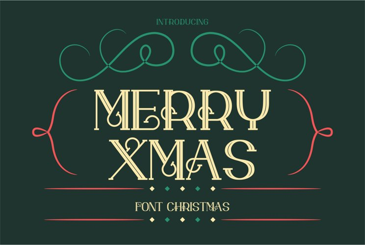 merry xmas font example image 1