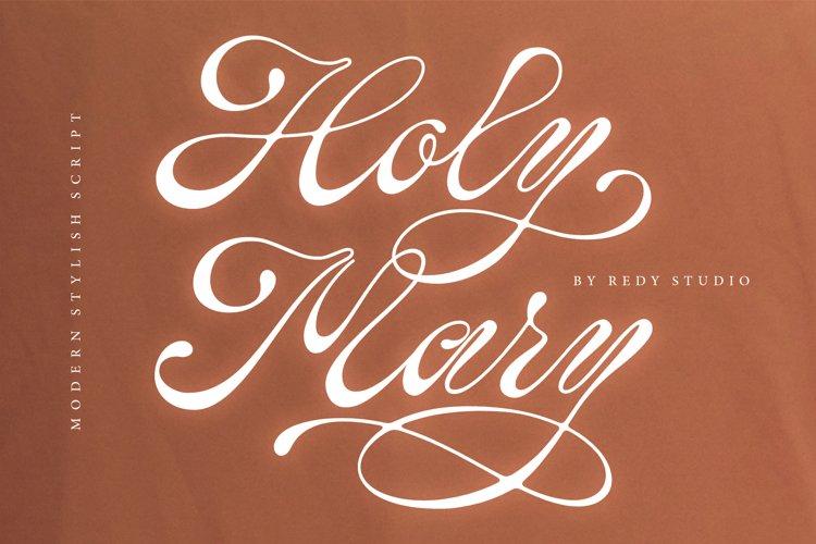 Holy Mary   stylish script example image 1