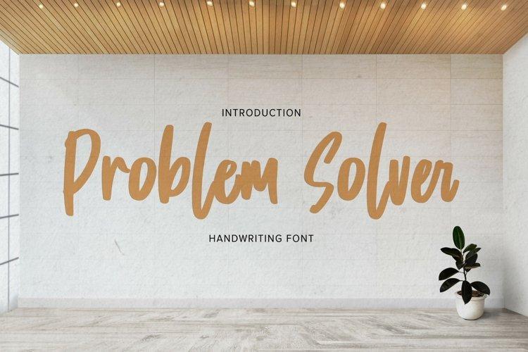 Problem Solver - Playful Display Font example image 1