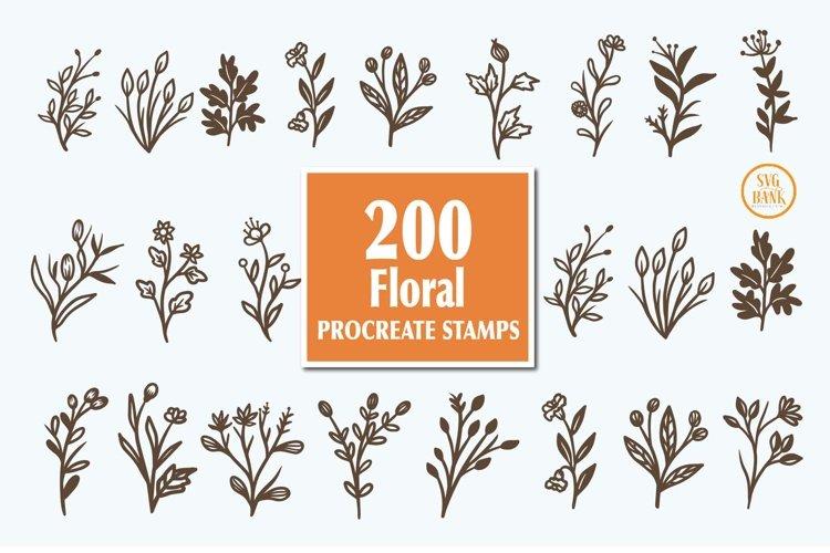 200 Florals Procreate Brush Stamp