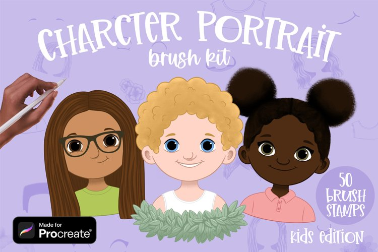 Kids Character Portrait Creator brushes for Procreate