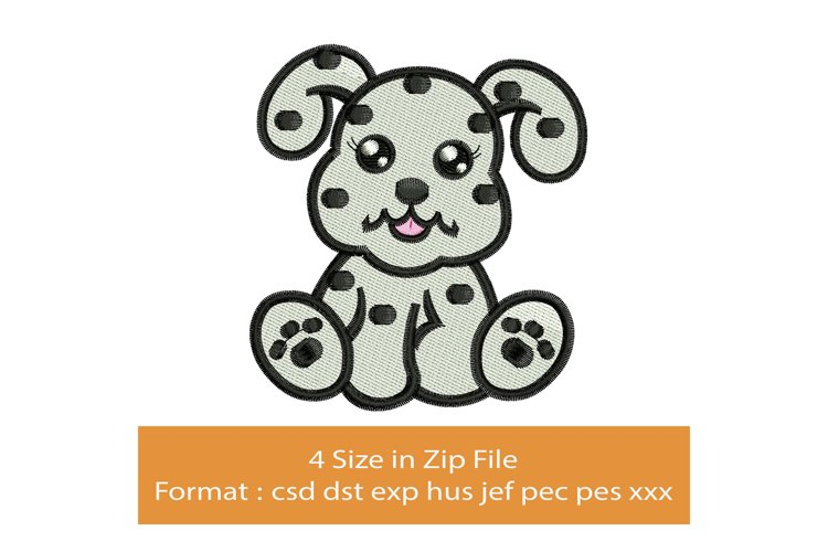 Baby Dalmatian machine embroidery designs example image 1