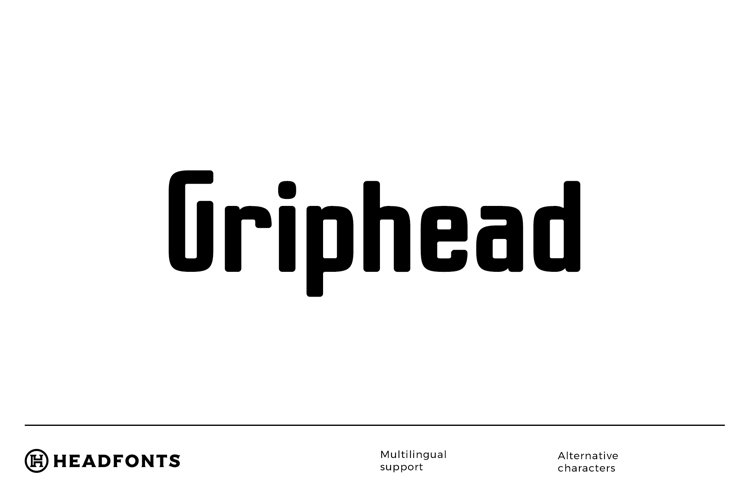Griphead Modern Condensed Font example image 1