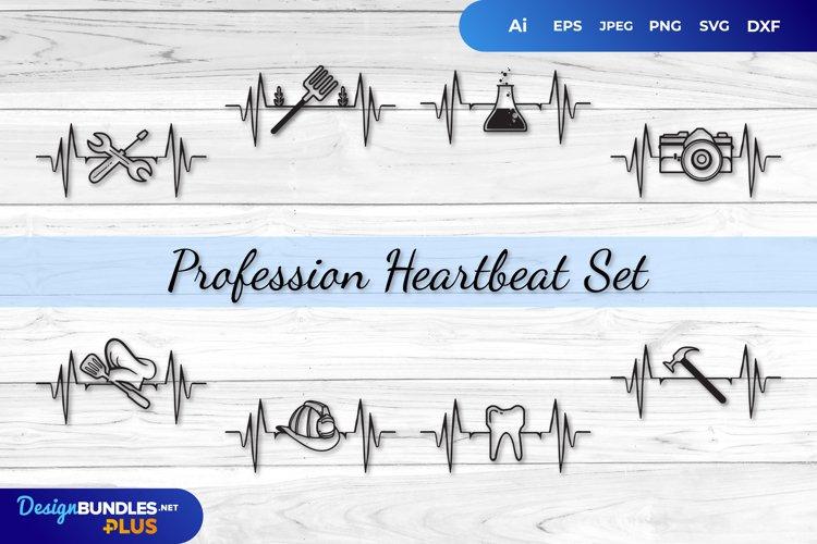 Profession Heartbeat Set SVG