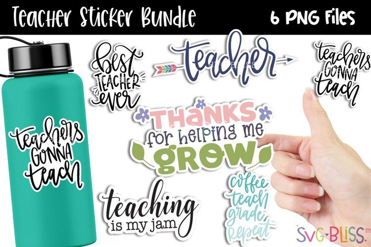 Teacher PNG Sticker Bundle   Teacher Water Bottle Stickers
