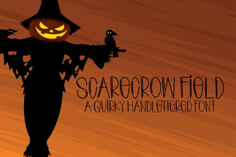 Scarecrow Field - A Quirky Handlettered Font example image 1