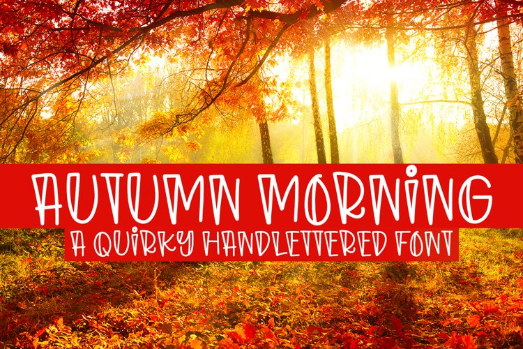 Autumn Morning - A Quirky Handlettered Font example image 1