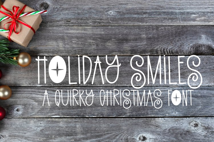 Holiday Smiles - A Quirky Christmas Font example image 1