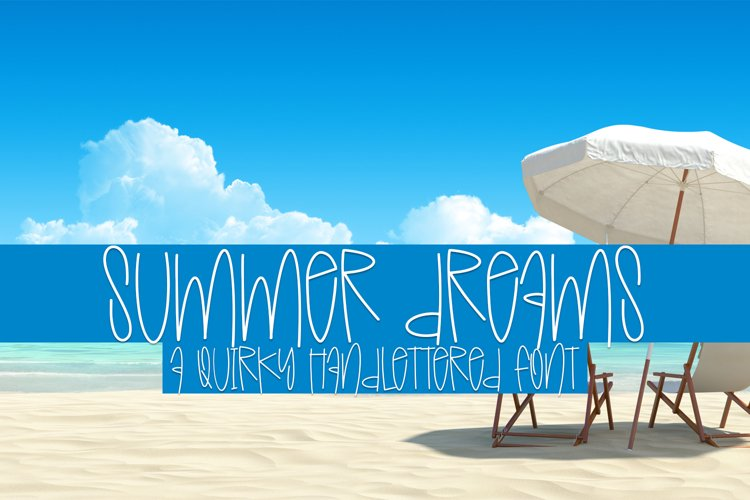 Summer Dreams - A Quirky Handlettered Font example image 1