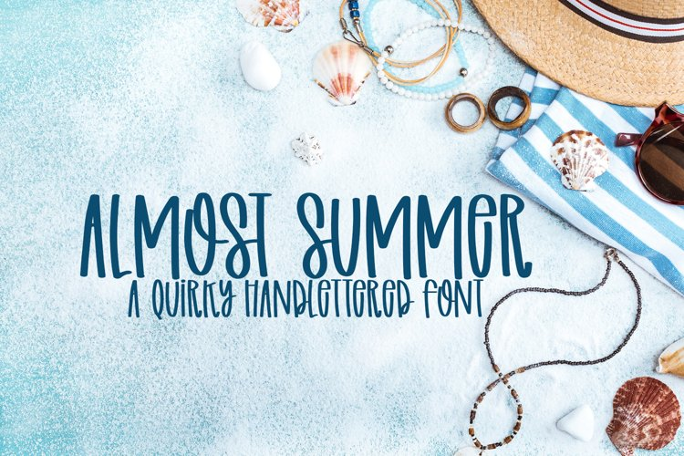 Almost Summer - A Quirky Handlettered Font example image 1