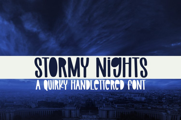 Stormy Nights - A Quirky Handlettered Font example image 1