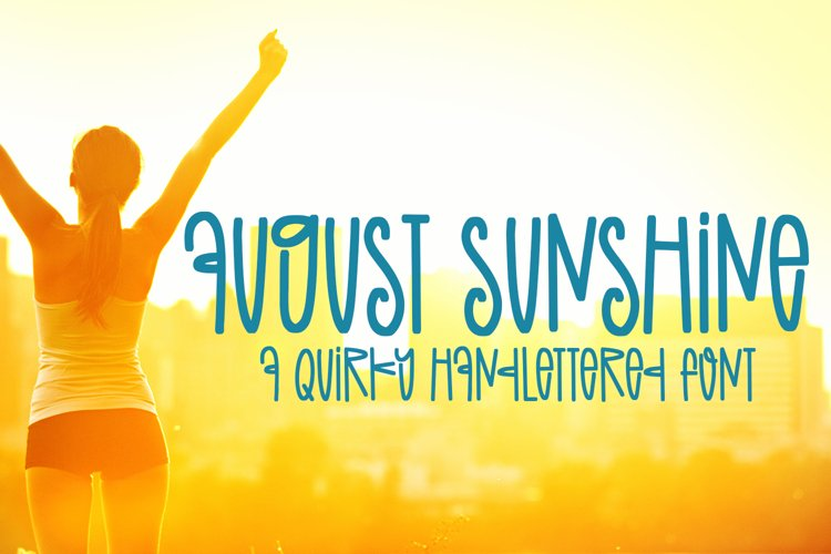 August Sunshine - A Quirky Handlettered Font example image 1