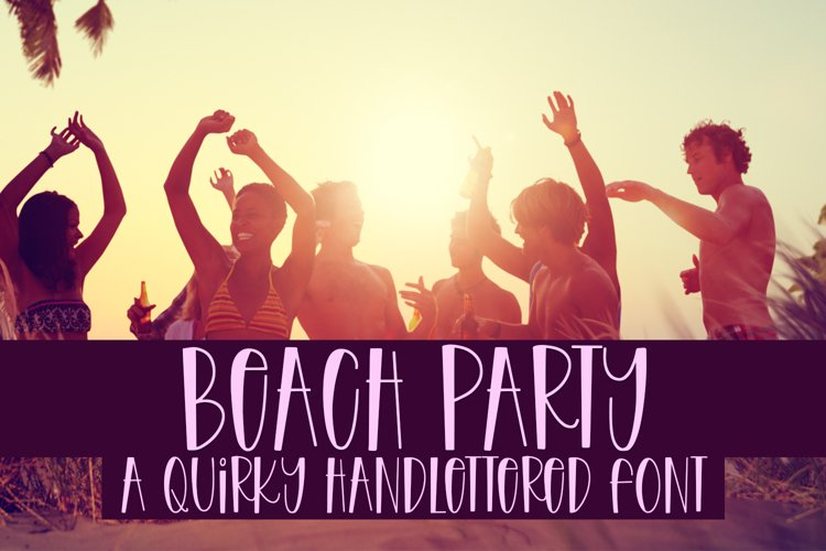 Beach Party - A Quirky Handlettered Font example image 1