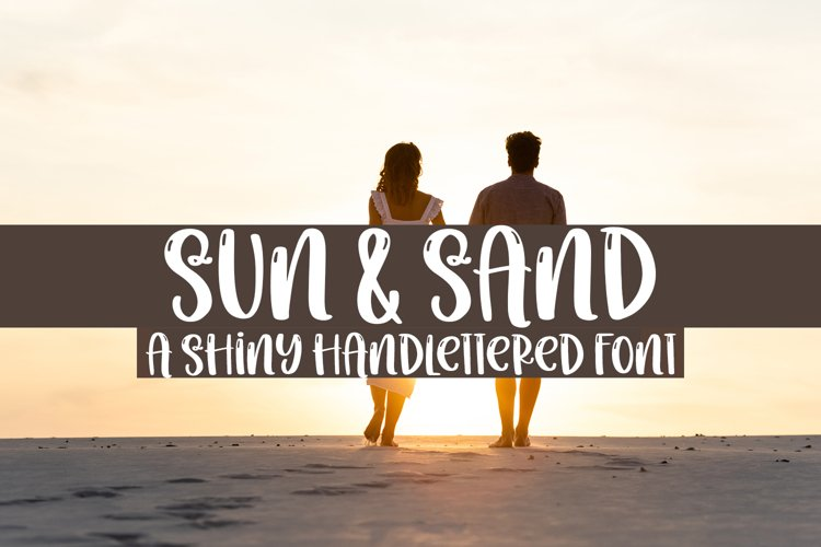 Sun & Sand - A Quirky Handlettered Font example image 1