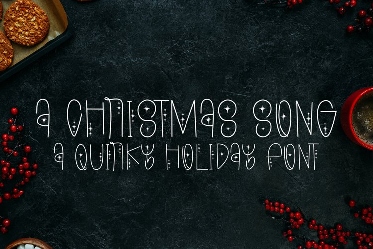 A Christmas Song - A Quirky Holiday Font example image 1