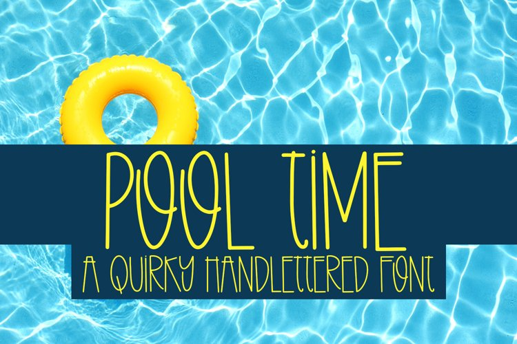 Pool Time - A Quirky Handlettered Font example image 1