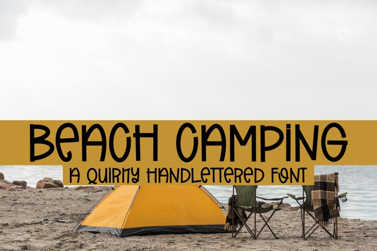 Beach Camping - A Quirky Handlettered Font example image 1