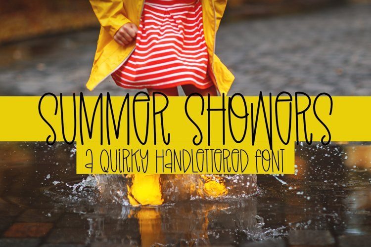 Summer Showers - A Quirky Handlettered Font example image 1