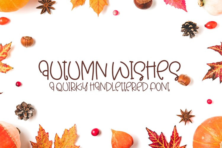 Autumn Wishes - A Quirky Handlettered Font example image 1