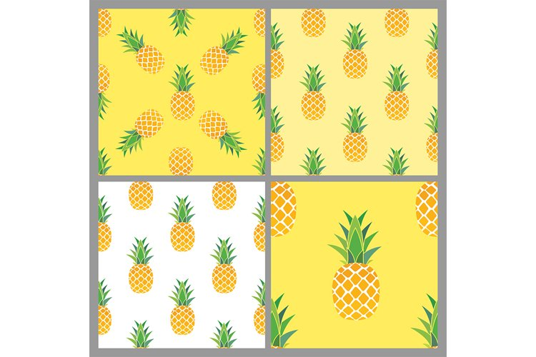 Pineapple Seamless Pattern Background collection