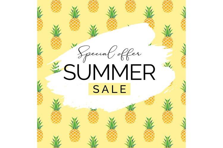 Pineapple Summer Sale Background