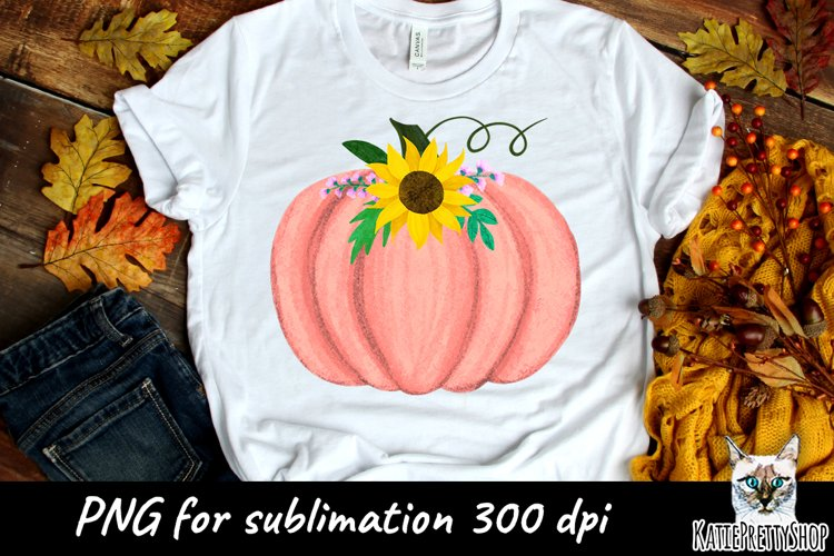 Pumpkin Sublimation Design for t shirt, its fall yall