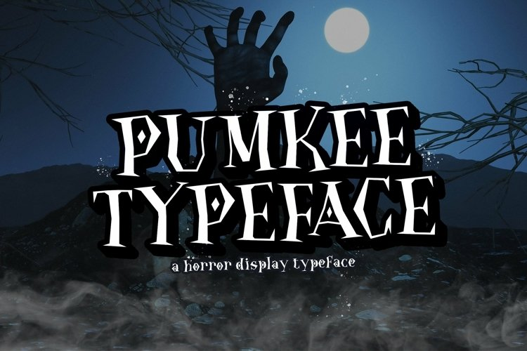 Web Font Pumkee example image 1