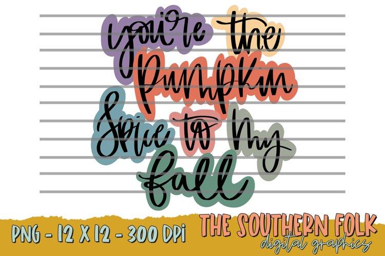 Hand Lettered Pumpkin Spice PNG File, Sublimation Designs