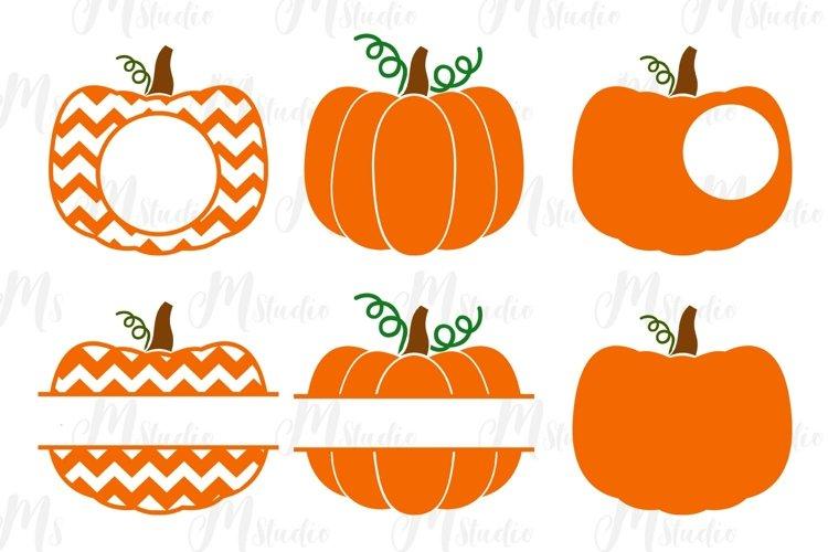 Pumpkin Monogram svg, for Silhouette Cameo or Cricut example image 1