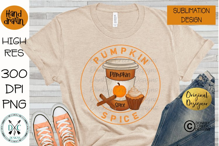 Pumpkin Spice Hand Drawn Fall Sublimation PNG