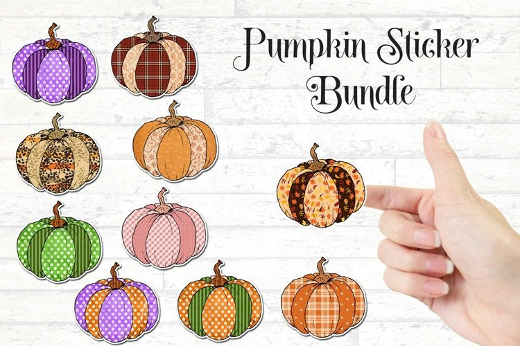 Pumpkin Stickers Bundle - Fall Design Stickers example image 1
