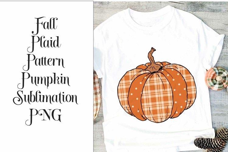 Sublimation Plaid Pumpkin Design PNG example image 1