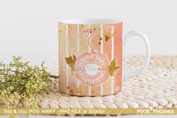 Pumpkin Spice Sublimation Design for Mugs