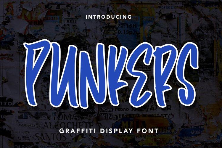 Punkers - Graffiti Display Font