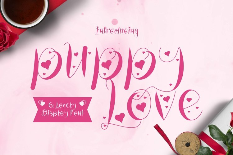 Web Font Puppy Love Font example image 1