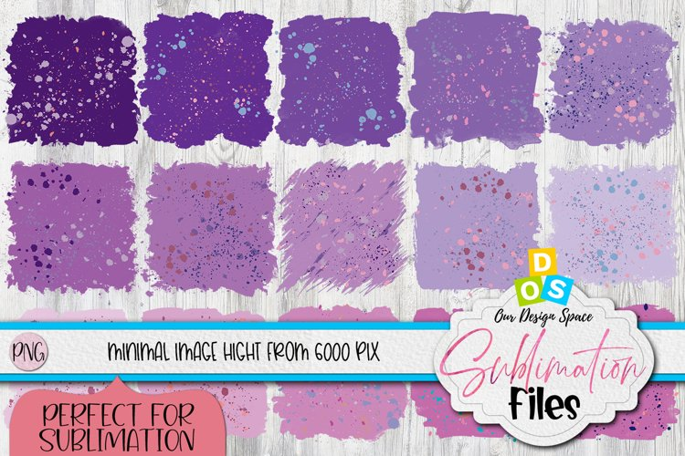 Purple Sublimation Background Splatter Bundle