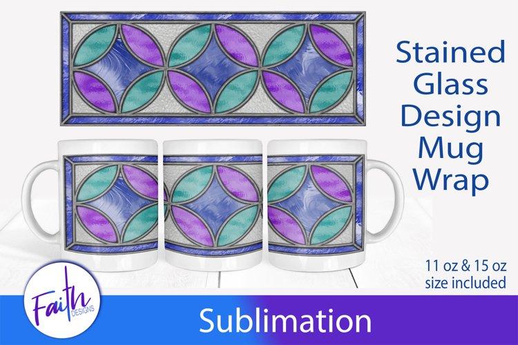 Mug Wrap Stained Glass Sublimation example image 1