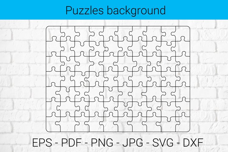 Puzzles background SVG