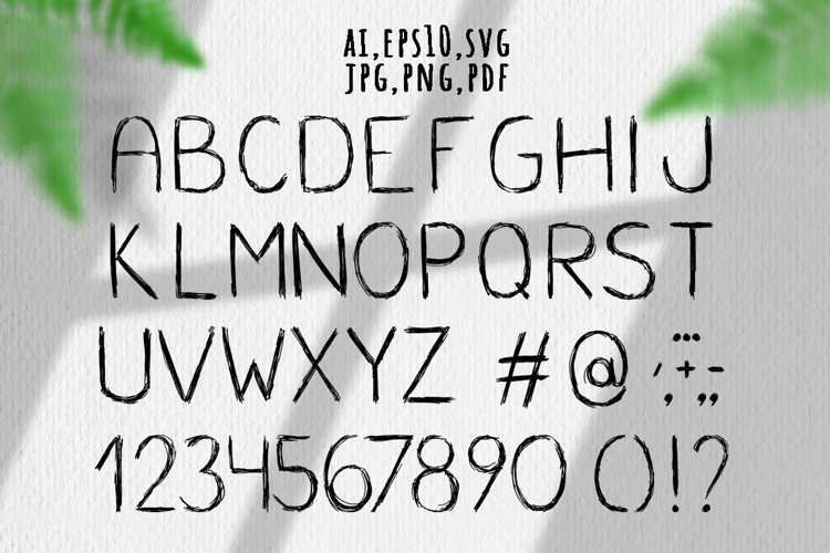 ABC sketch. Hand drawn Latin alphabet example image 1