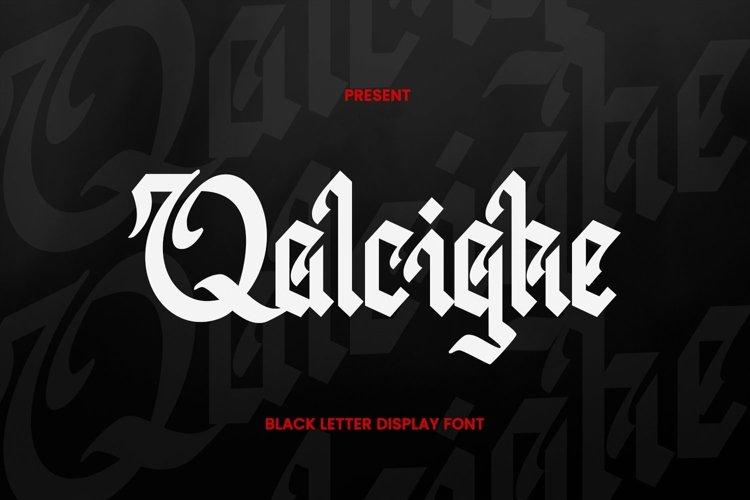Web Font Qalcighe Font example image 1