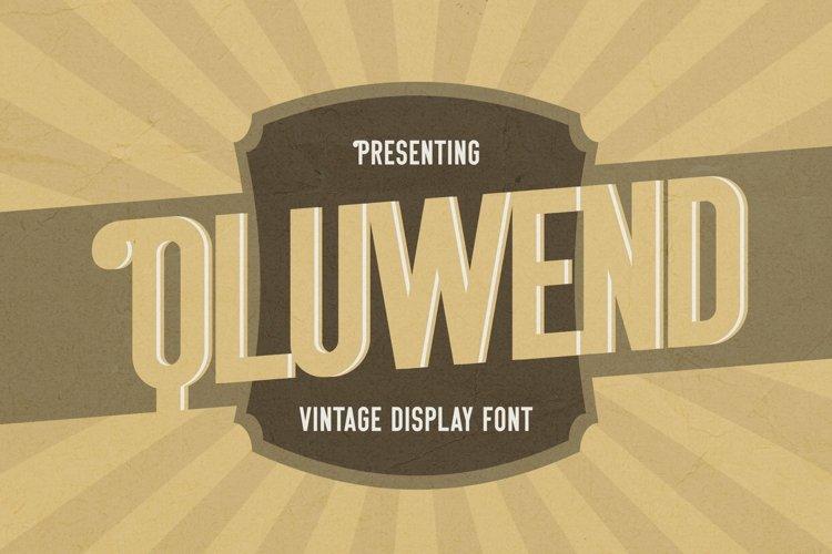 Web Font Qluwend - Vintage Display Font example image 1