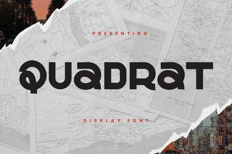 Web Font QUADRAT example image 1