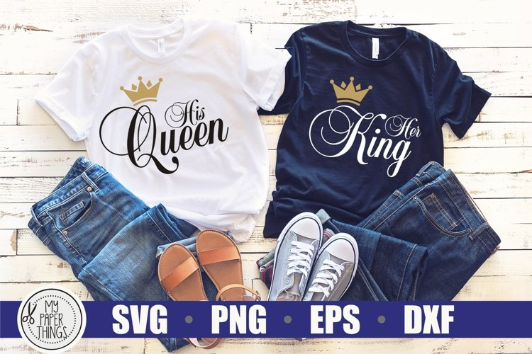 King and Queen svg | Matching shirt svg
