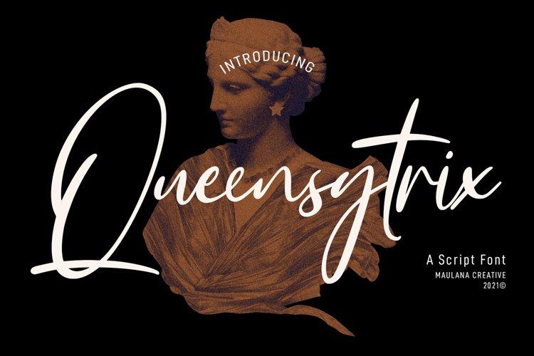 Queensytrix Signature Script Font example image 1