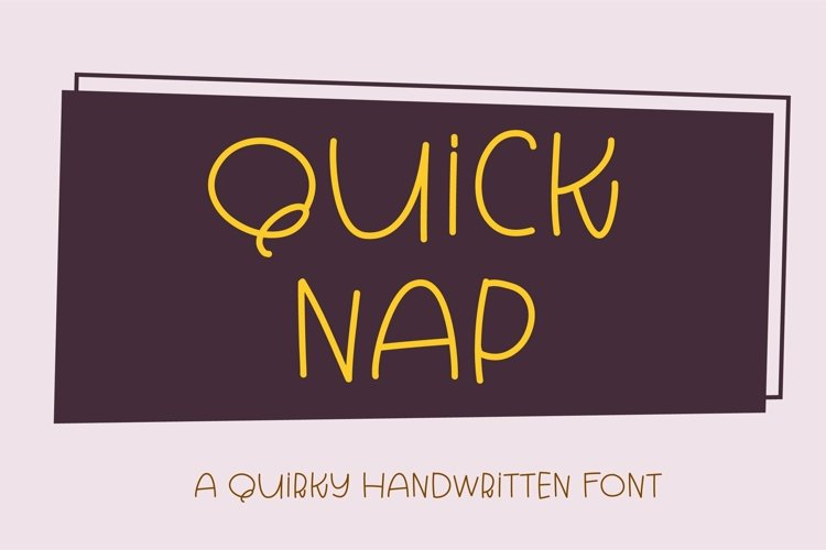 Web Font Quick Nap - a quirky handwritten font example image 1