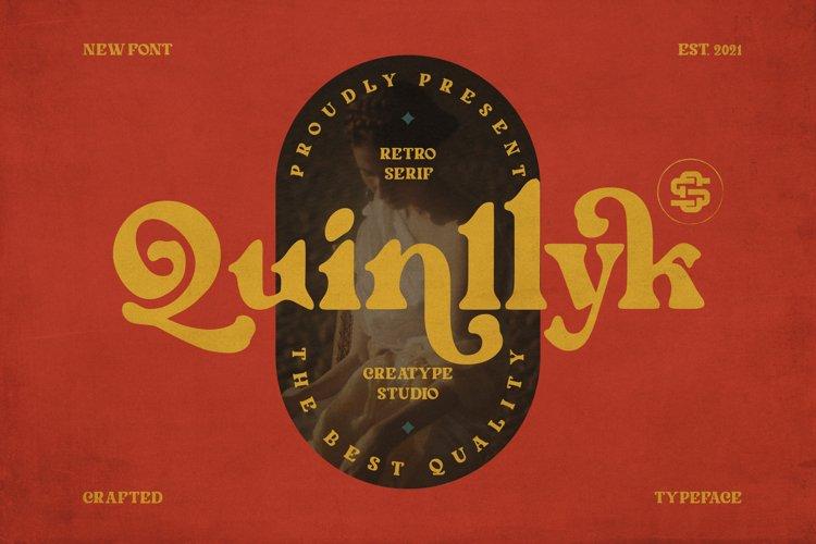 Quinlliyk Retro Serif example image 1