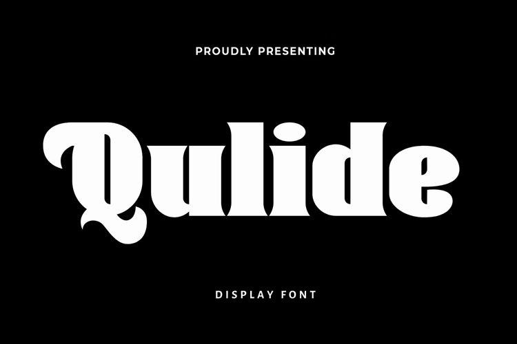 Web Font Qulide -Display Font example image 1